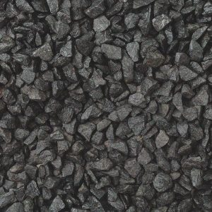 black basalt gravel, wet