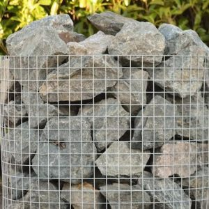 a crate of green granite rocks