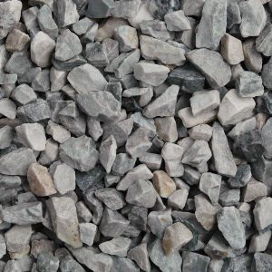 ice blue gravel, 14-20mm in size, wet