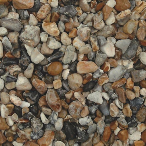 oyster pebbles, grey and beige in colour, wet