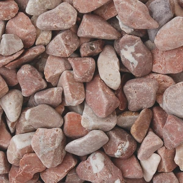 raspberry pebbles, red and pink in colour, dry