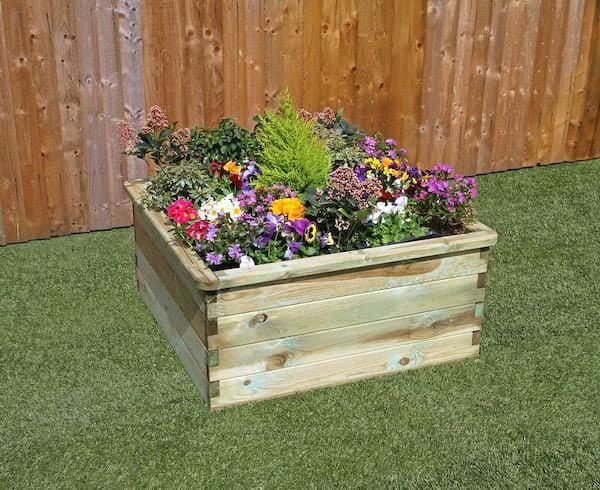 A raised bed.