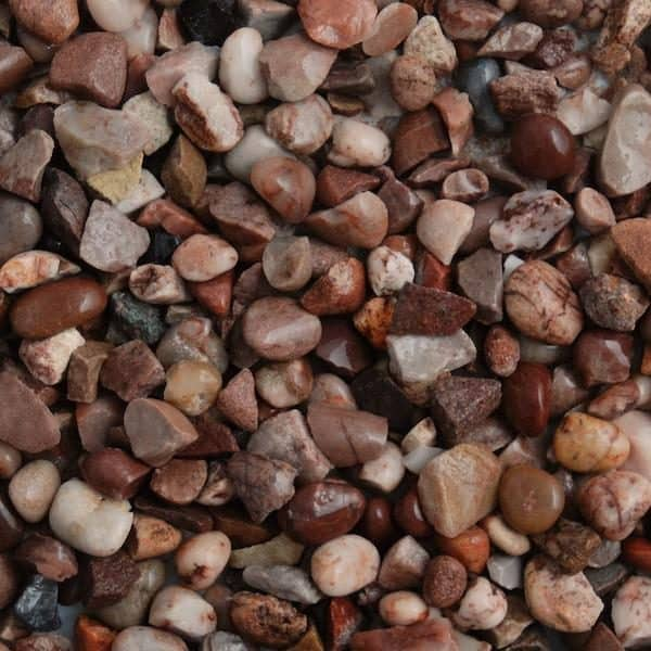 staffordshire pink gravel 10-20mm in size, wet
