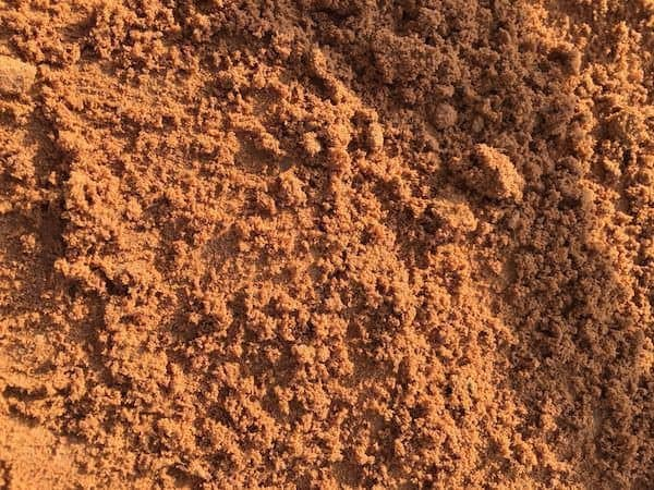 red building sand for bricklaying mortar