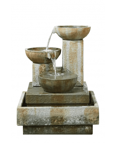 Patina Bowls Fountain Cutout