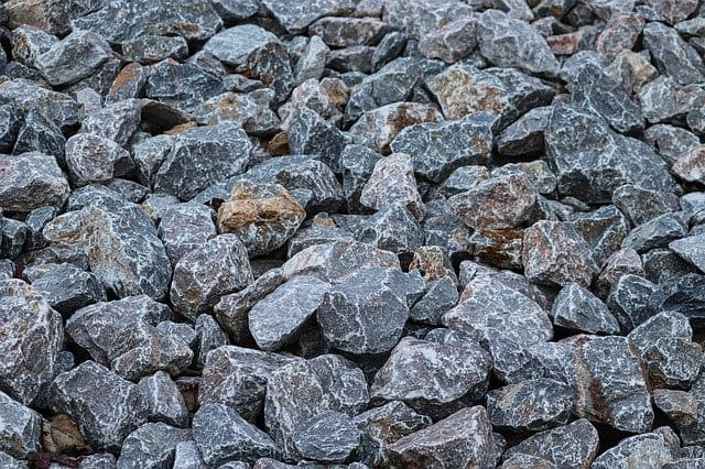 Grey decorative chippings